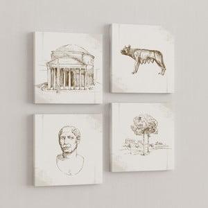 Sada 4 obrazov Rím