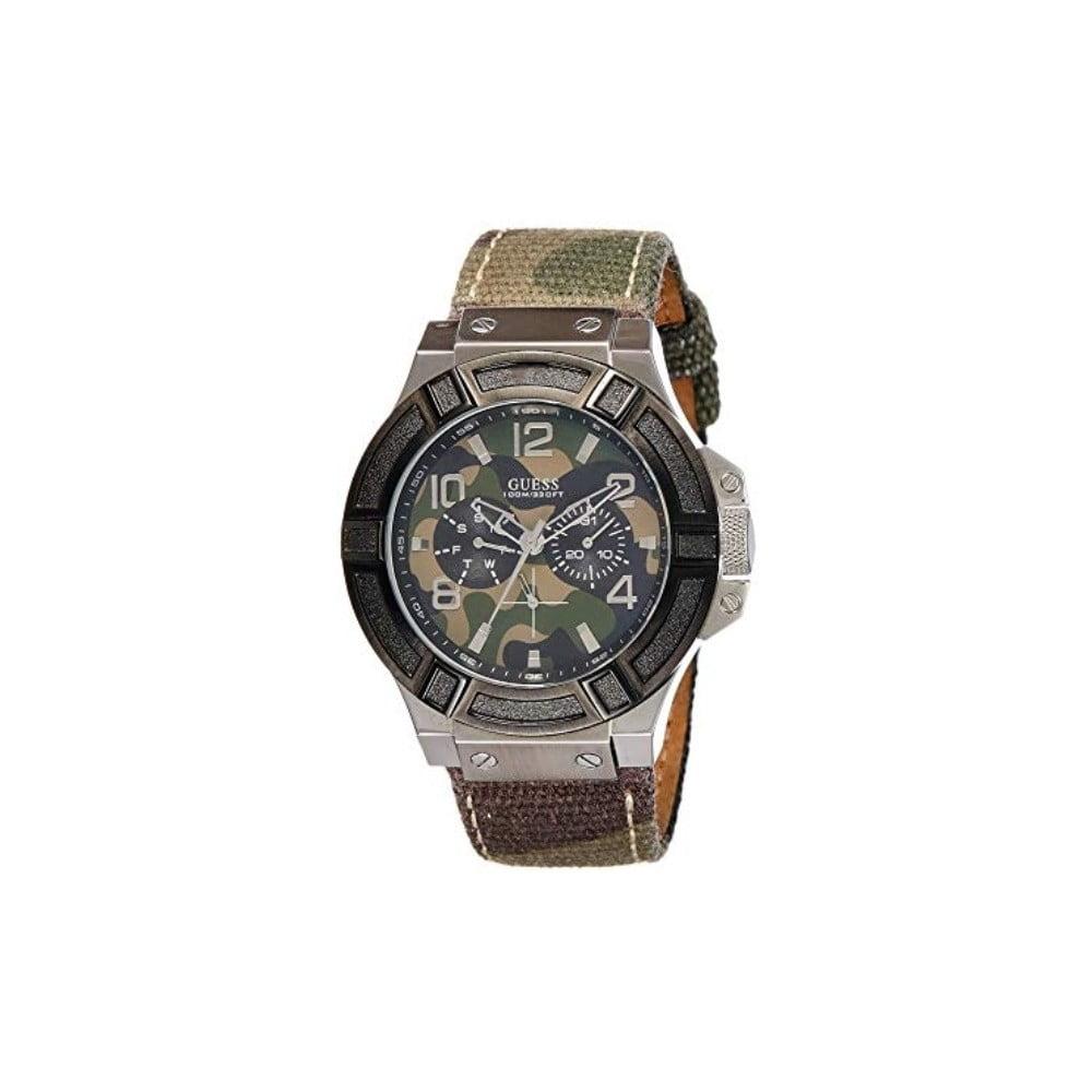 Pánske hodinky s antikoro remienkom v striebornej farbe Guess W0407G1