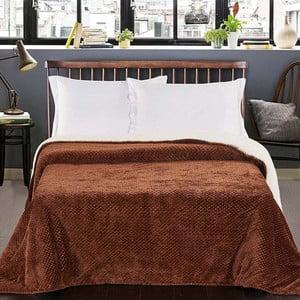 Hnedý obojstranný pléd na posteľ DecoKing Lamby, 210×170cm