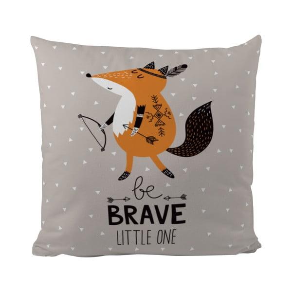 Vankúš Mr. Little Fox Be Brave, 50x50cm