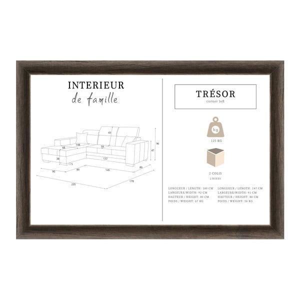 Slivkovofialová sedačka Interieur De Famille Paris Tresor, ľavý roh