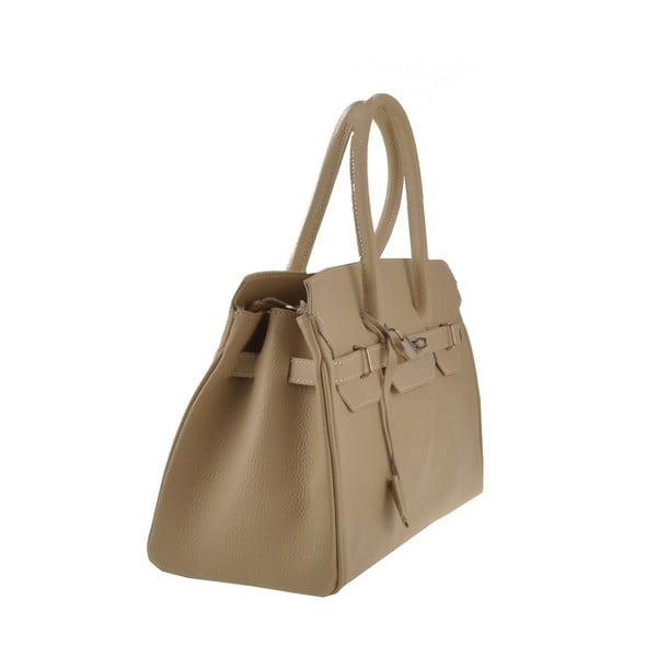 Béžová kožená kabelka Florence Gallina