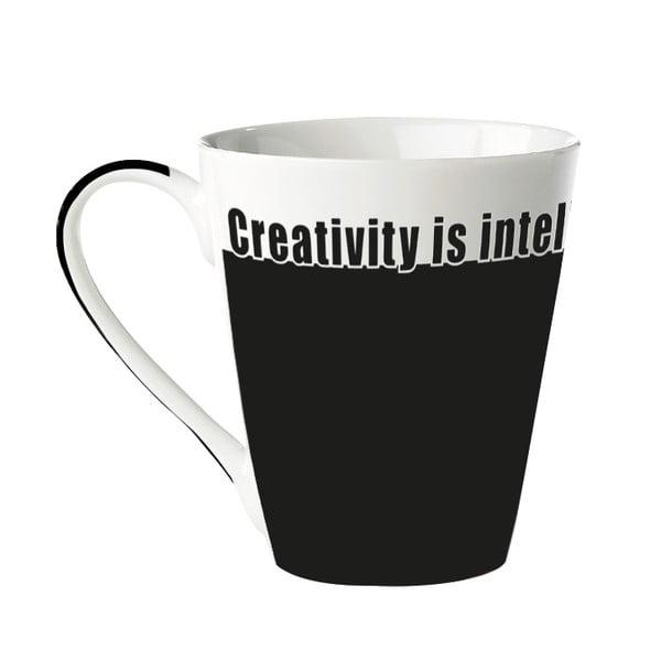 """Porcelánový hrnček """"Creativity is intelligence having fun"""""""