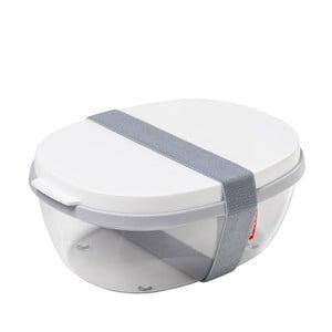 Šalátový box s bielym vrchnákom Rosti Mepal Ellipse