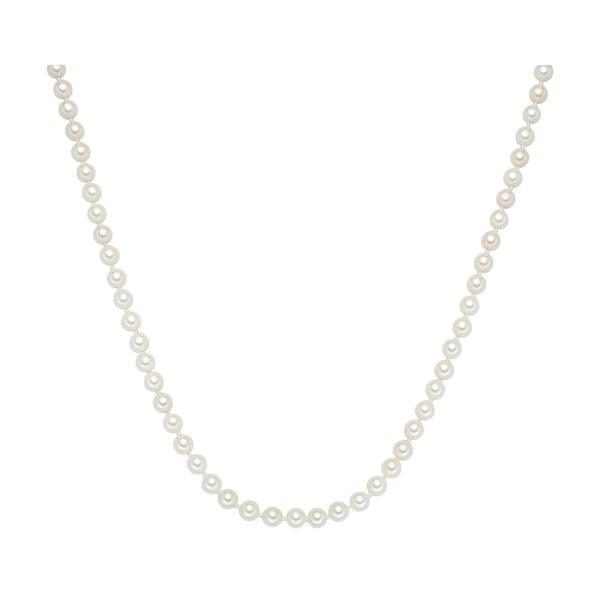 Náhrdelník s bielymi perlami ⌀ 6 mm Perldesse Muschel, dĺžka 80 cm