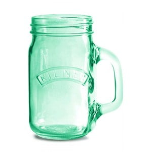 Zelený pohár s uškom Kilner