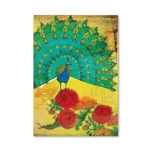 Plagát Peacock Wooden, 30x42 cm