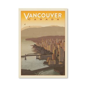 Plagát Americanflat Vancouver Skyline, 42 x 30 cm
