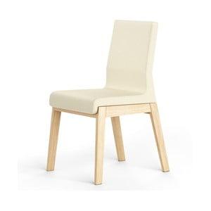 Biela stolička z dubového dreva Absynth Kyla