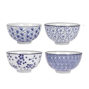 Sada 4 porcelánových misiek Blue, 11 cm