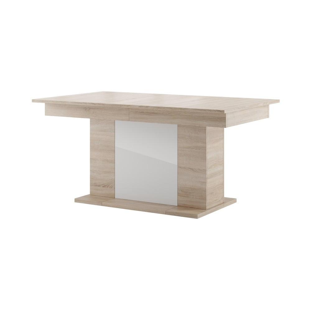 Rozkladací jedálenský stôl v dekore svetlého dubového dreva s bielou doskou Szynaka Meble Star 6