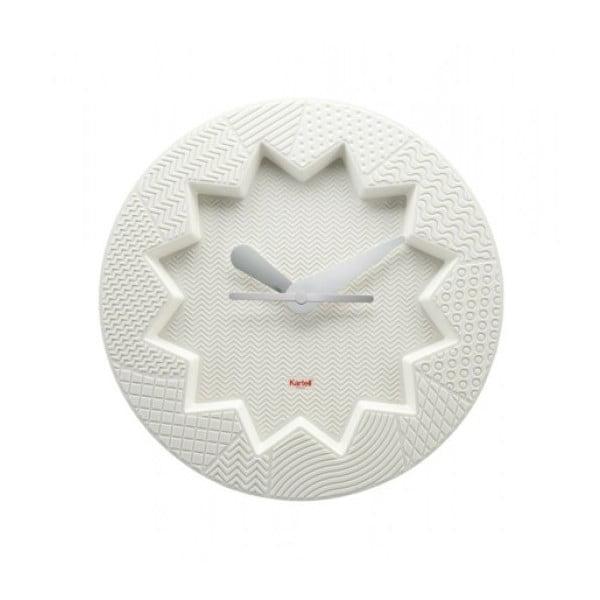Biele hodiny Kartell Crystal Palace
