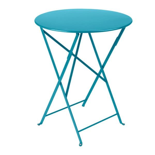 Tyrkysový skladací kovový stôl Fermob Bistro