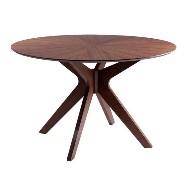 Jedálenský stôl vdekore orechového dreva sømcasa Carmel, ⌀120cm