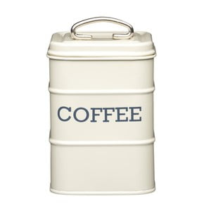 Krémová plechová dóza na kávu Kitchen Craft Coffee