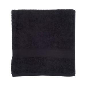 Čierna froté osuška Walra Frottier, 70×140 cm