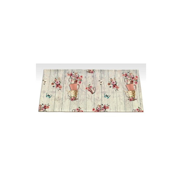 Vysokoodolný kuchynský koberec Webtappeti French Garden, 60×115 cm