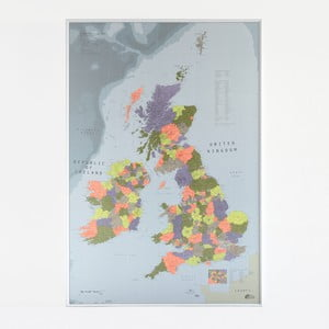Magnetická mapa Britských ostrovov The Future Mapping Company British, 100 x 70 cm
