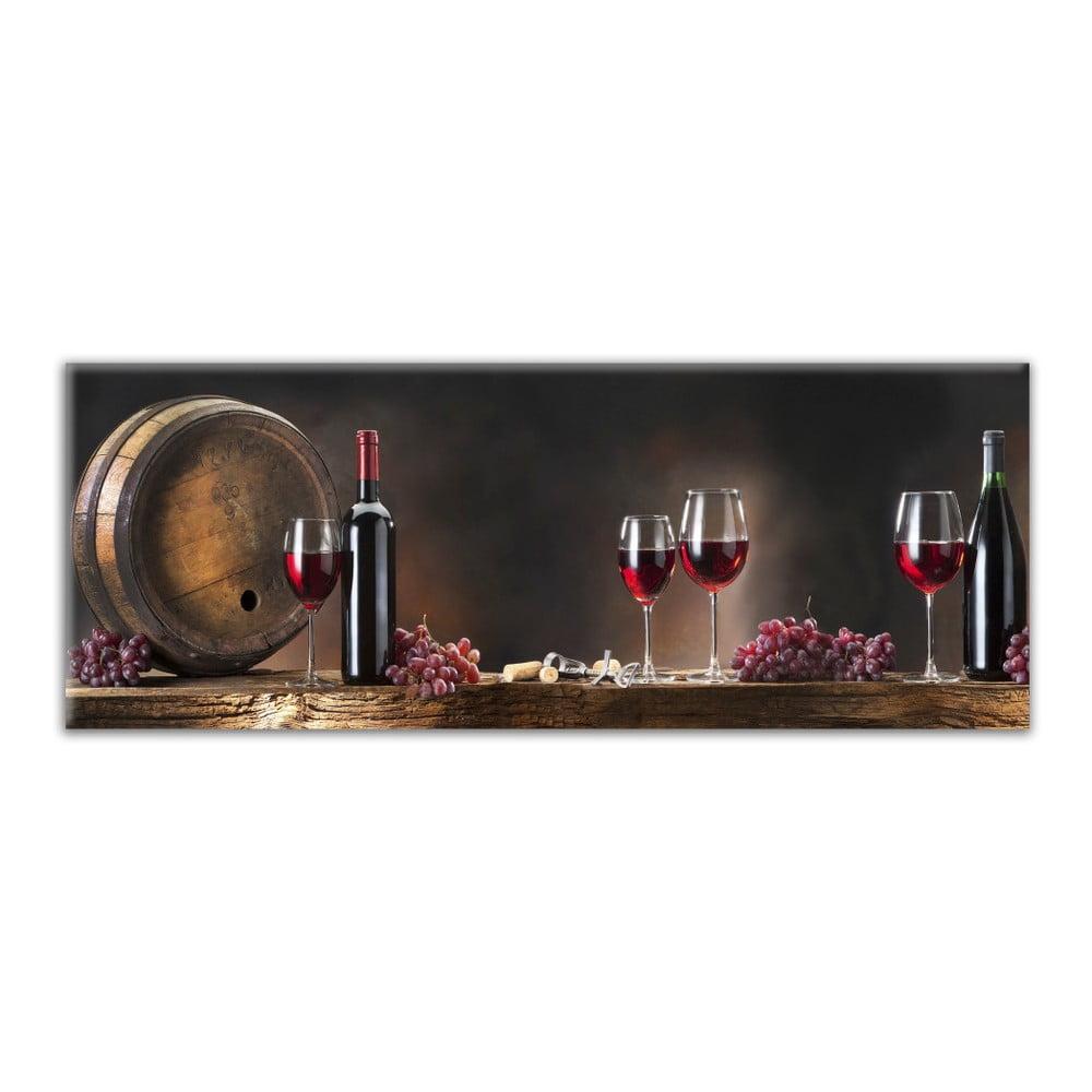 Obraz Styler Glasspik Kitchen Wine Glasses, 30 × 80 cm