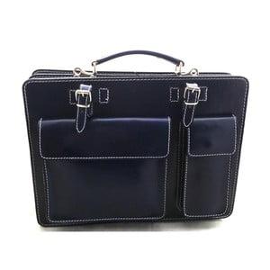 Modrá kožená taška Chicca Borse Gaia