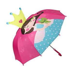 Detský dáždnik s rúčkou Von Lilienfeld Princess with Frog, ø 73 cm