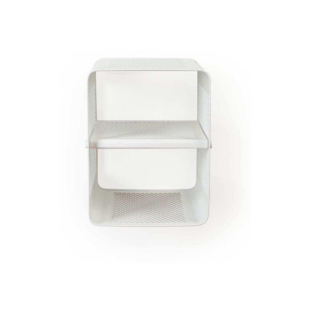 Biela nástenná 2-poschodová skrinka na topánky Tica copenhagen Perforate