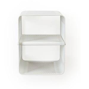 Biela nástenná 2-poschodová srkinka na topánky Tica copenhagen Perforate