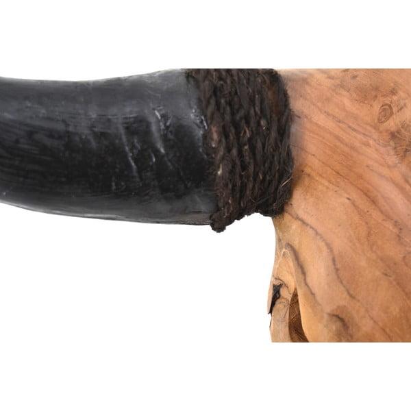 Teaková dekorácia býčej hlavy Erosi