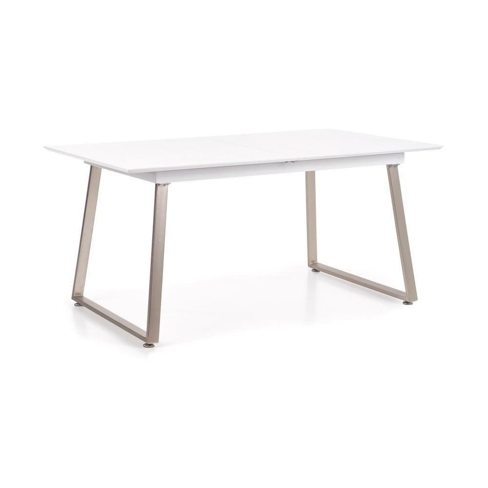 Rozkladací jedálenský stôl s detailom v dekore betóna Halmar Thomas, dĺžka 160 - 200 cm