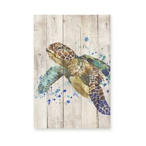 Obraz na dreve Little Nice Things Turtle, 60 x 40 cm