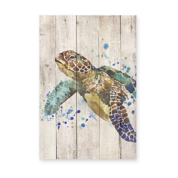 Drevená ceduľa Turtle