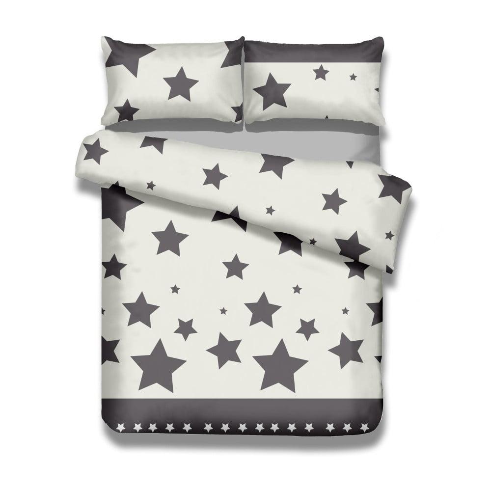 Sada bavlnenej obliečky na perinu a 2 obliečok na vankúše AmeliaHome Averi Starlight, 220 × 240 cm + 63 × 63 cm