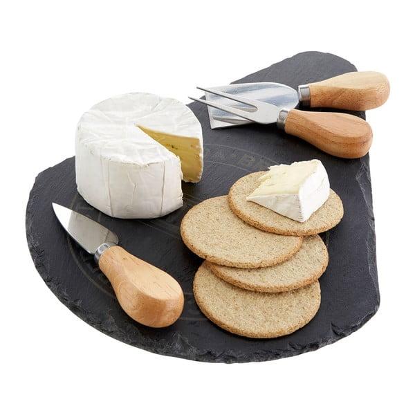 Servírovacia doštička na syr s 3 nožmi Premier Housewares Cheese Set