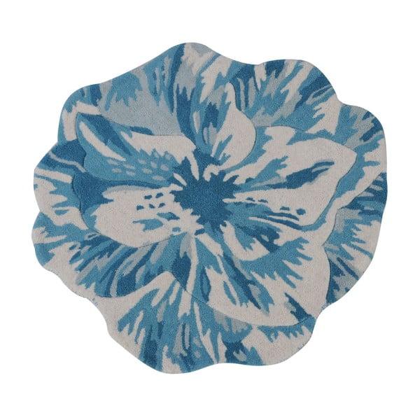 Vlnený koberec Juniper Blue, 90 cm