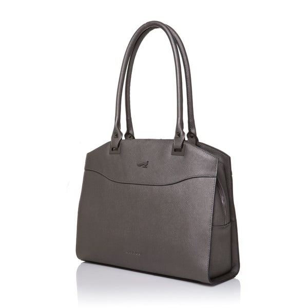 Kožená kabelka Marta Ponti Fusili, sivá