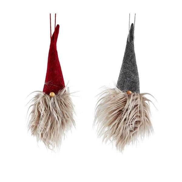 Sada 2 vianočných závesných dekoratívnych dekorácií KJ Collection Christmas