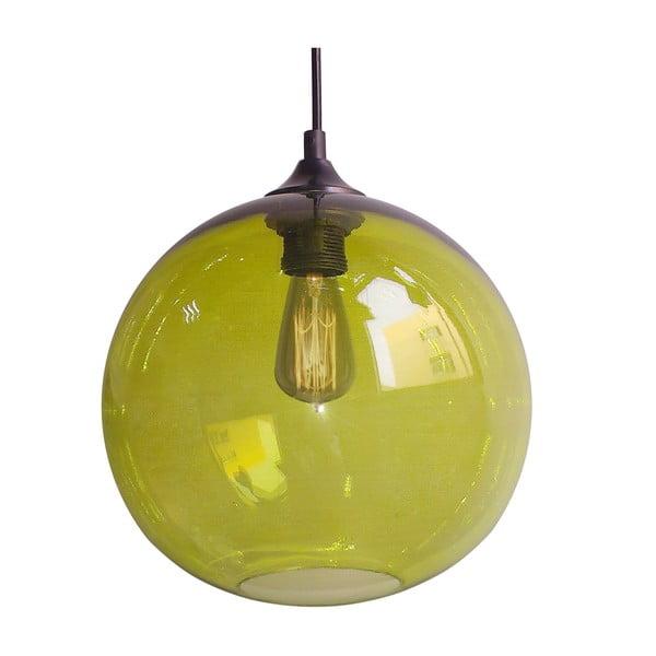 Závesné svetlo Edison, zelené