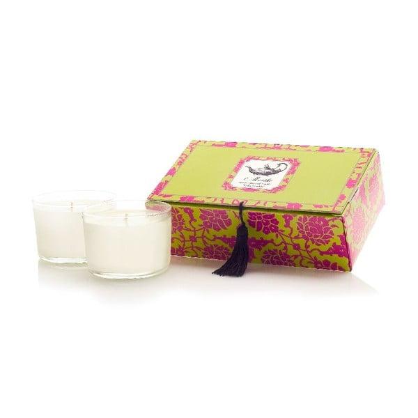Sada 2 sviečok Menthe Tea, 30-40 hodín horenia