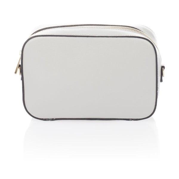 Sivá kožená listová kabelka Krole Kath