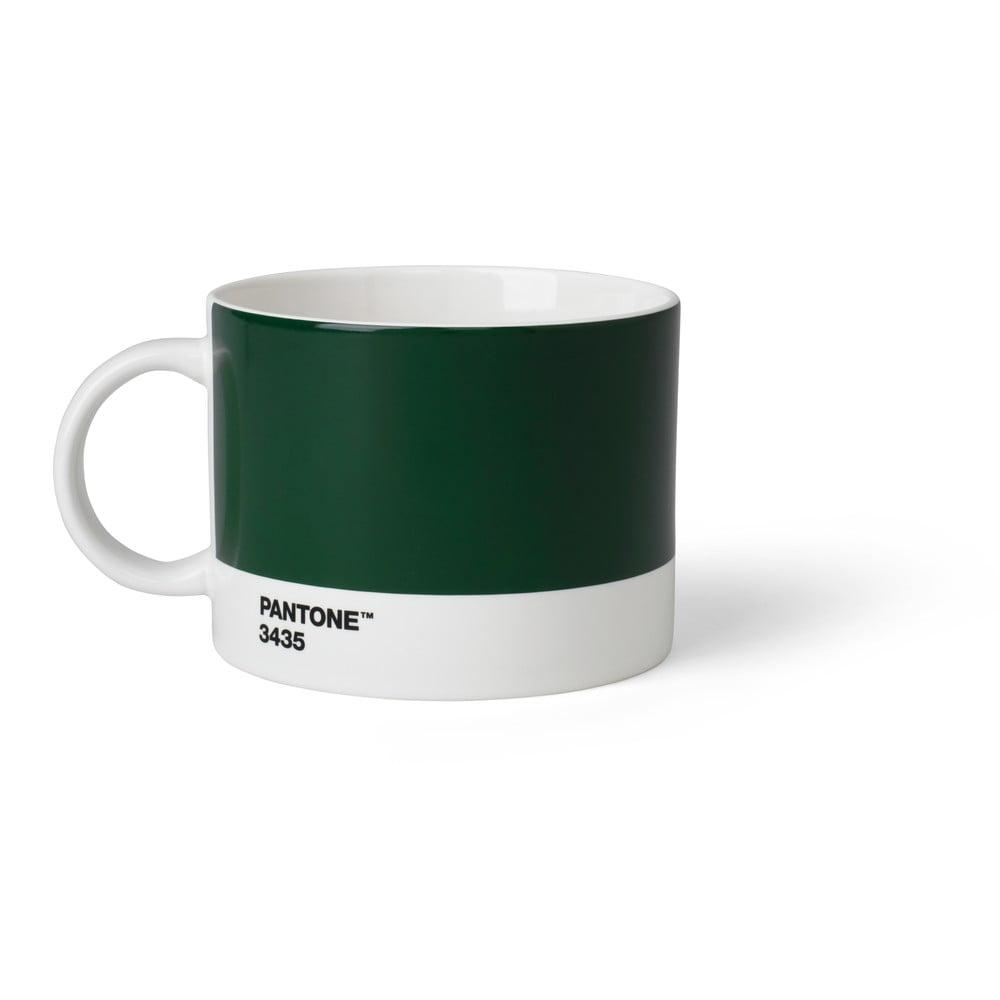 Tmavozelený hrnček na čaj Pantone, 475 ml