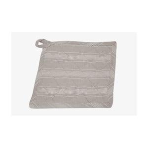Sivá podložka pod horúce nádoby Ego Dekor Linen Stripe, 20x20cm