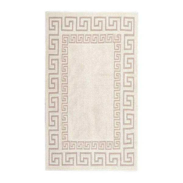 Krémovobiely bavlnený koberec Orient 80×150 cm