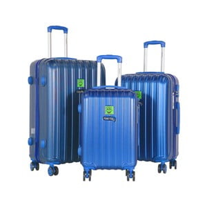 Sada 3 modrých cestovných kufrov LULU CASTAGNETTE Edge