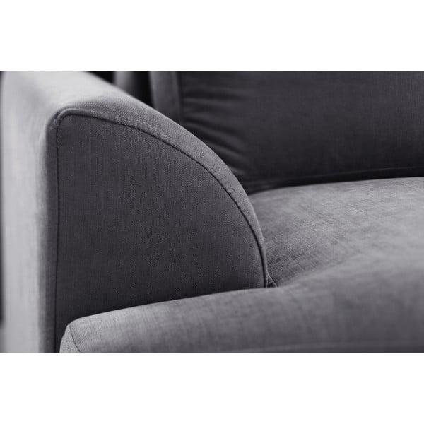 Trojdielna sedacia súprava Jalouse Maison Irina, antracitová