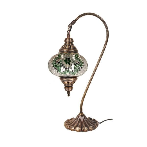 Sklenená ručne vyrobená lampa Fishing Coco, ⌀ 17 cm