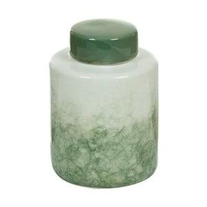 Bielo-zelená kameninová dóza Santiago Pons Havan, výška 19cm