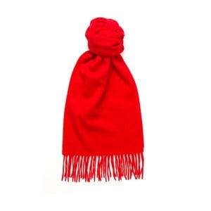 Červený kašmírový šál Hogarth, 180×25 cm