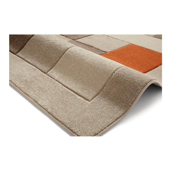 Béžovo-oranžový koberec Think Rugs Matri×, 60×120cm