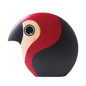 Dekorácia v tvare vtáčika s červeným detailom Architectmade Discus