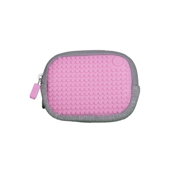 Pixelové univerzálne puzdro, grey/pink